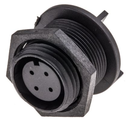 Cable Mount Receptacle Circular Connector 4 Contac IP68 Buccaneer 400 Series