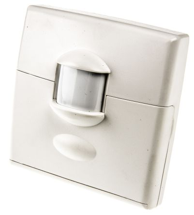 White 3 15 A Surface Mount Motion Sensor Light Switch 32 Mm 2 Way Ed Satin 1 Gang Bs Standard 230 V Ac
