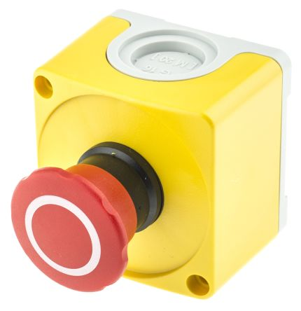ABB Compact Emergency Button, Pull to Reset, Red/Yellow/Grey 40mm Mushroom Head