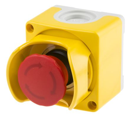 ABB Compact Emergency Button, Twist to Reset, Red/Yellow/Grey 40mm Mushroom Head