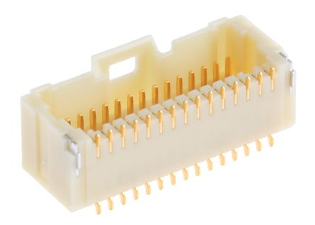 Molex, Pico-Clasp, 501571, 30 Way, 2 Row, Right Angle PCB Header
