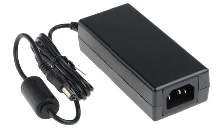 RS Pro 60W Desktop Power Supply, 100 → 240 V ac, 12V dc 5A Output Level V 1 Output, C14