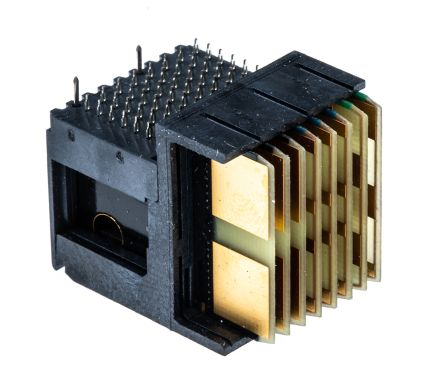 TE Connectivity MULTIGIG RT 2 Series 1 8mm Pitch VITA 46 Left Backplane  Connector, Male, Right Angle, 8 Column, 7 Row,