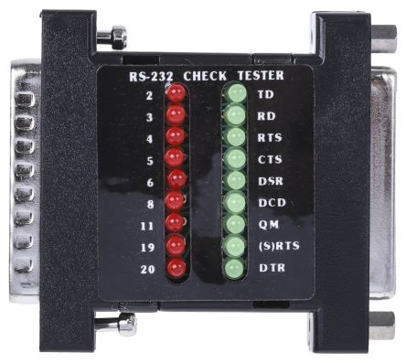 RS PRO Network Cable Tester Breakout Box RS232C