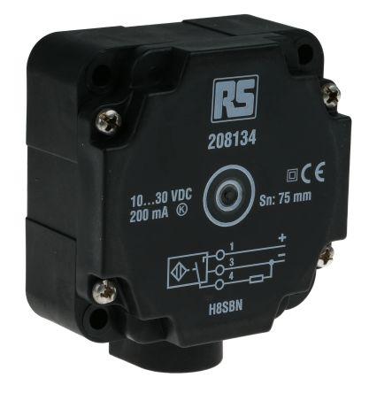 RS PRO PNP-NO Inductive Sensor 80mm Length, 10 → 30 V dc supply voltage ,  IP67 Rating