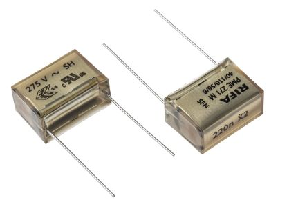 KEMET Paper Capacitor 220nF 275V ac ±10% Tolerance PME271M Through Hole +110°C