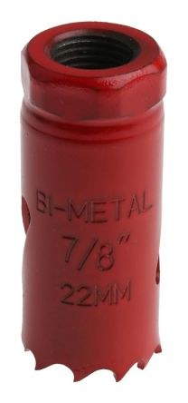 Bi-metal hole saw 22mm dia