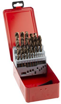 RS PRO 25 piece Metal Twist Drill Bit Set, 1mm to 13mm
