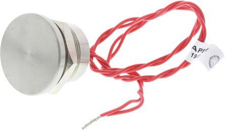 Wire Lead Piezo Switch, , IP68, 200 mA @ 24 V dc, NO, -40 → +75°C