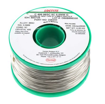 583729 | Multicore 0.5mm Wire Lead Free Solder, 217°C Melting ...