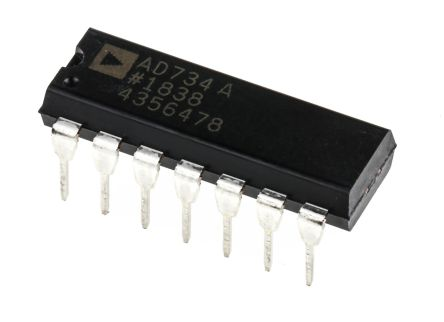 AD734ANZ Analog Devices, 4-quadrant Voltage Multiplier, 10 MHz, 14-Pin PDIP