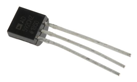 Analog Devices AD592CNZ, Temperature Transducer -25 → +105 °C ±0.3°C, 3-Pin TO-92