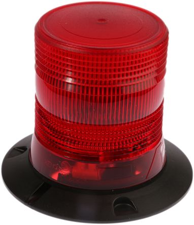 RS PRO Xenon Beacon - Flashing, Red, Surface Mount, 10  100 V dc