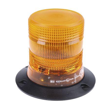 RS PRO Xenon Beacon - Flashing, Amber, Surface Mount, 10  100 V dc