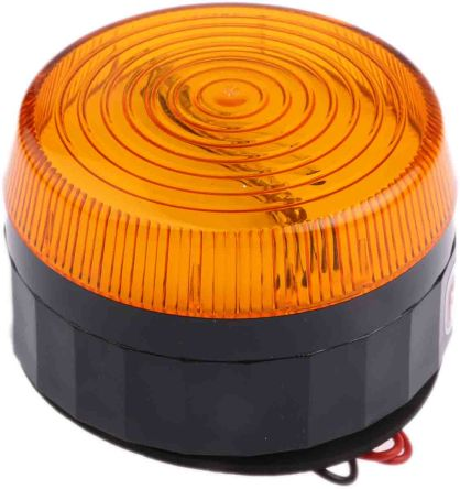 RS PRO Xenon Beacon - Flashing, Amber, Surface Mount, 10  100 V dc, 20  72 V ac