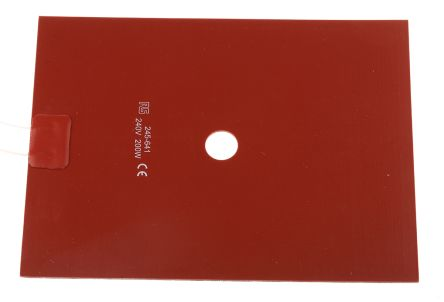 Silicone Heater Mat, 200 W, 150 x 200mm, 240 V