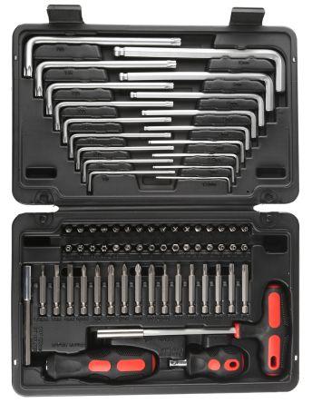 RS PRO 70 Piece Key Bit & Driver Box Tool Kit No