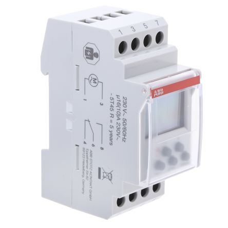 1 Channel Digital DIN Rail Switch Measures Minutes, 230 V ac