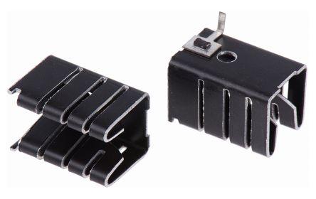Heatsink, TO-220, TO-262, 25°C/W, 19.5 x 12.7 x 13mm, Solder