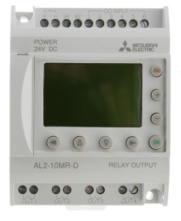 Alpha 2 Logic Module With Display, 6 x Input, 4 x Output, 24 V dc Supply Voltage product photo