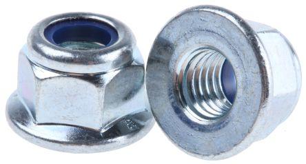 Self Locking Nut >> Rs Pro M8 Bright Zinc Plated Steel Nylon Insert Lock Nut
