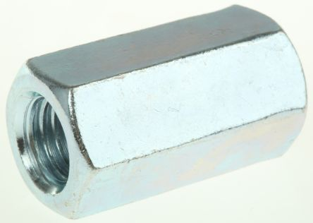 36mm Bright Zinc Plated Steel Coupling Nut, M12