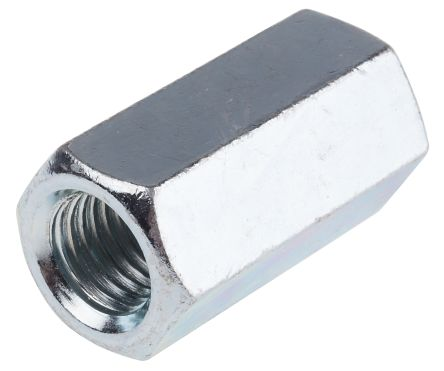 48mm Bright Zinc Plated Steel Coupling Nut, M16