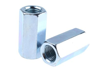 60mm Bright Zinc Plated Steel Coupling Nut, M20