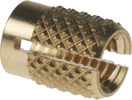 RS Pro, M4 Brass Threaded Insert diameter 5 6mm Depth 7 95mm