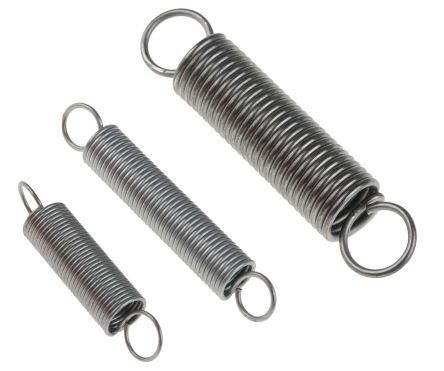 RS PRO Steel Alloy Extension Spring Kit, 142 Springs