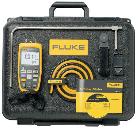 Fluke 922/KIT Differential Manometer, Max Pressure Measurement 40mbar