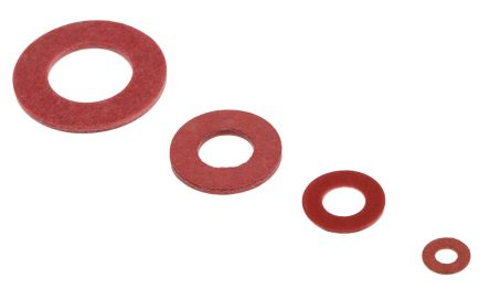 RS PRO 1465 piece Plain Vulcanised Fibre Washers