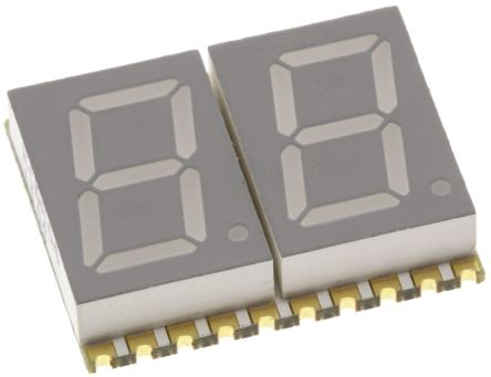 KCDA04-105 2 Digit 7-Segment LED Display, CA Red 27 mcd RH DP 10.2mm product photo