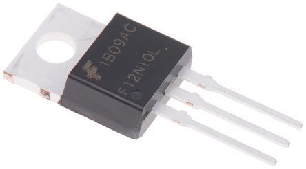 RFP12N10L N-Channel MOSFET, 12 A, 100 V, 3-Pin TO-220AB ON Semiconductor