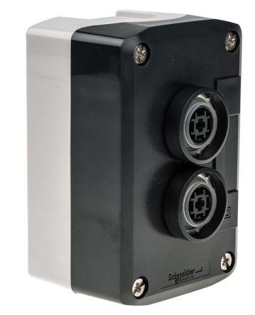 Schneider Electric Harmony XALD Push Button, IP66, IP67, IP69, IP69K 66mm Grey Polycarbonate 74mm +70°C -25°C Green,