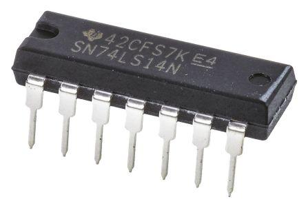 Texas Instruments SN74LS14N, Hex Schmitt Trigger Inverter, 14-Pin PDIP