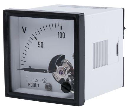 HOBUT DC Analogue Voltmeter, 100V, 45 x 45 mm,