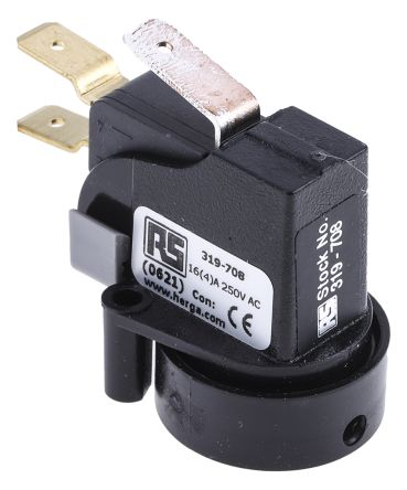 6871 Series Momentary Air Switch, 250mm Fly Lead, Surface Mounted product photo