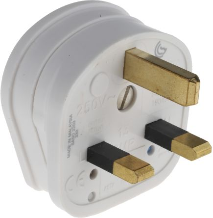 British 240 V ac 13A Cable Mount MK Electric UK Mains Plug Type G