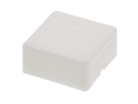 Indicator Lens Square Style, White, 20.5 mm Long
