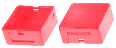 Indicator Lens Square Style, Red, 20.5 mm Long