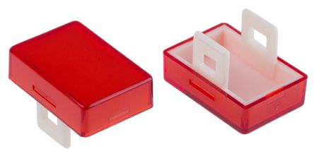Red Rectangular Push Button Lens for use with Push Button Switch