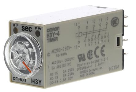 F0340617 01 h3y 4 ac200 230 30s on delay single timer relay, 1 → 30 s, 4 omron h3y 2 wiring diagram at gsmportal.co