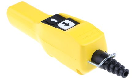 Schneider Electric 2NO/2NC 2 Push Button Pendant Station 3 A ac, 270 mA dc Yellow, 600V, IP65 2 Black, White Down