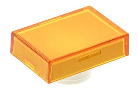 Orange Rectangular Push Button Lens for use with TP2 Series