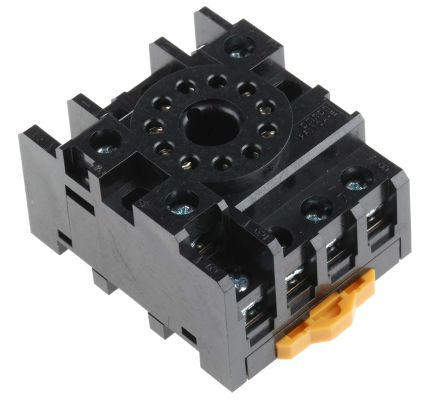 Omron 11 Pin Relay Socket, 250V ac for use with Various Series on