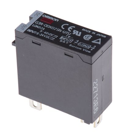 Omron 2 A Solid State Relay DIN Rail Transistor 60 V Maximum Load