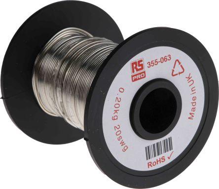 RS Pro Schaltdraht, Kupferdraht-Spule verzinnt, 0,7 mm² / Ø 0,91mm ...