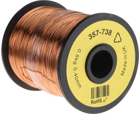 RS Pro PUR Kupferlackdraht, 0,13 mm² / Ø 0,45mm, Kupferdraht-Spule ...