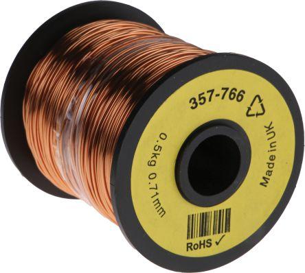 RS Pro PUR Kupferlackdraht, 0,4 mm² / Ø 0,78mm, Kupferdraht-Spule ...